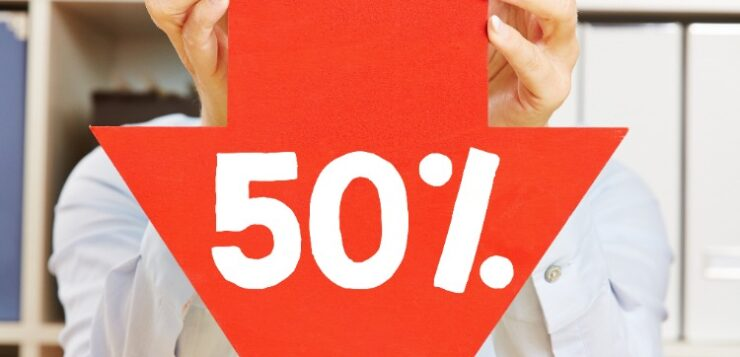 Person-Holding-50%-Down-Arrow